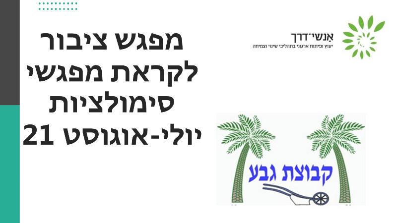 מפגש שינוי 29/6/21 - לקראת מפגשי סימולציות